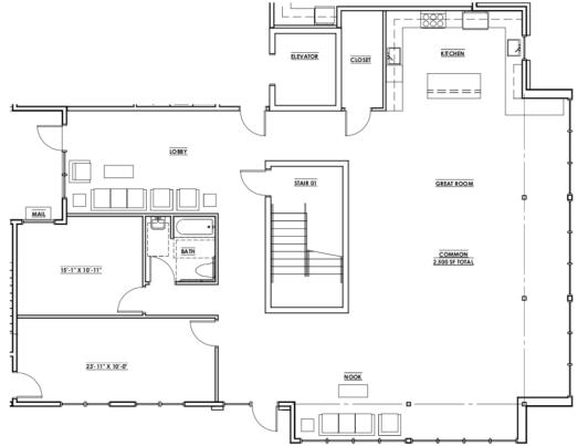 Common Space - 1st Floor