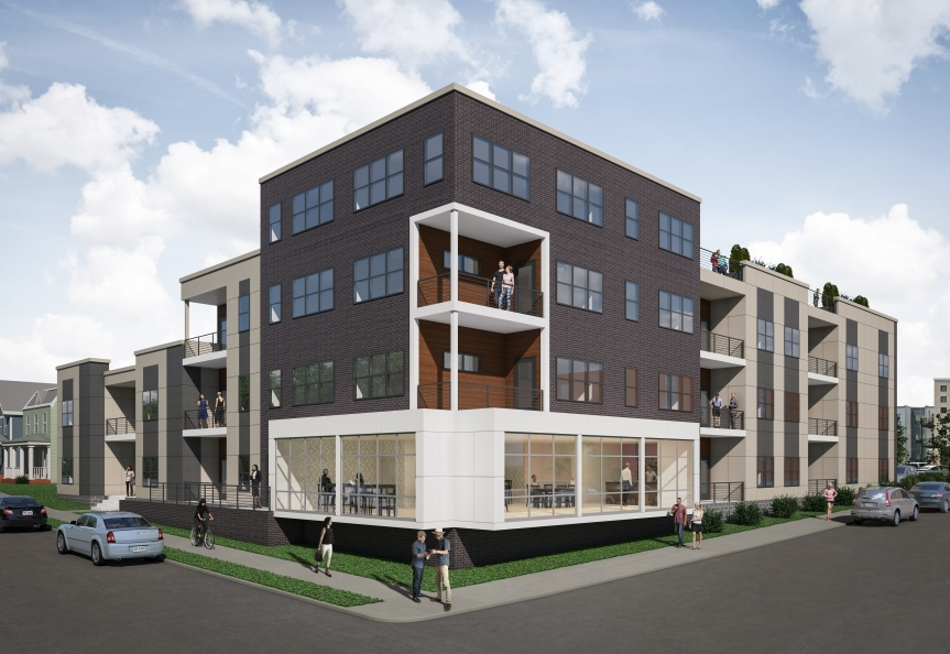 Building Rendering of Richmond Cohousing at 901 Porter Street